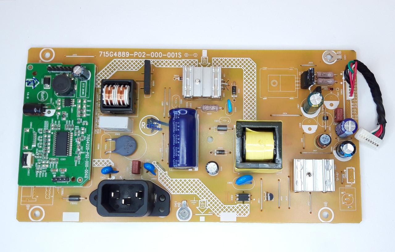 Плата питания (Power Board) для монитора PHILIPS, 715G4889-P02-000-001S) б.у.