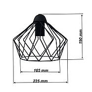 Підвісна люстра павук на 8-ламп CARAVAN-8 E27 чорний 1,5 м., фото 2