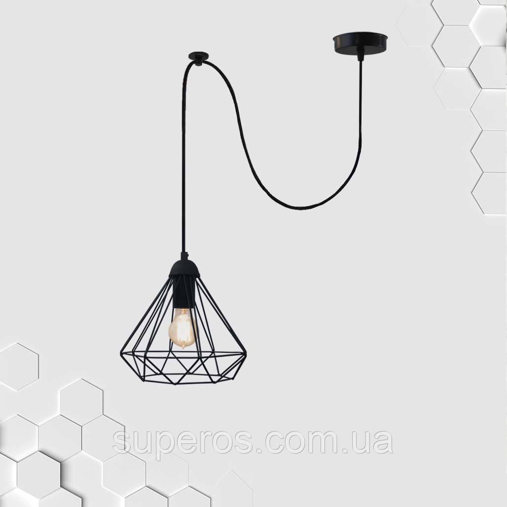 Підвісний світильник на 1-лампу DIAMOND/SP E27 чорний