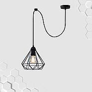 Підвісний світильник на 1-лампу DIAMOND/SP E27 чорний, фото 2