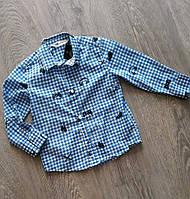 Джинсовая рубашка для мальчиков H&M 98 рост