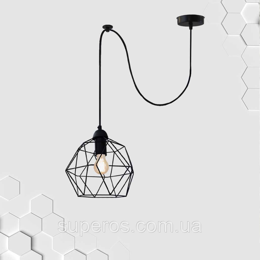 Подвесной светильник на 1-лампу ANTHILL/SP E27 чёрный