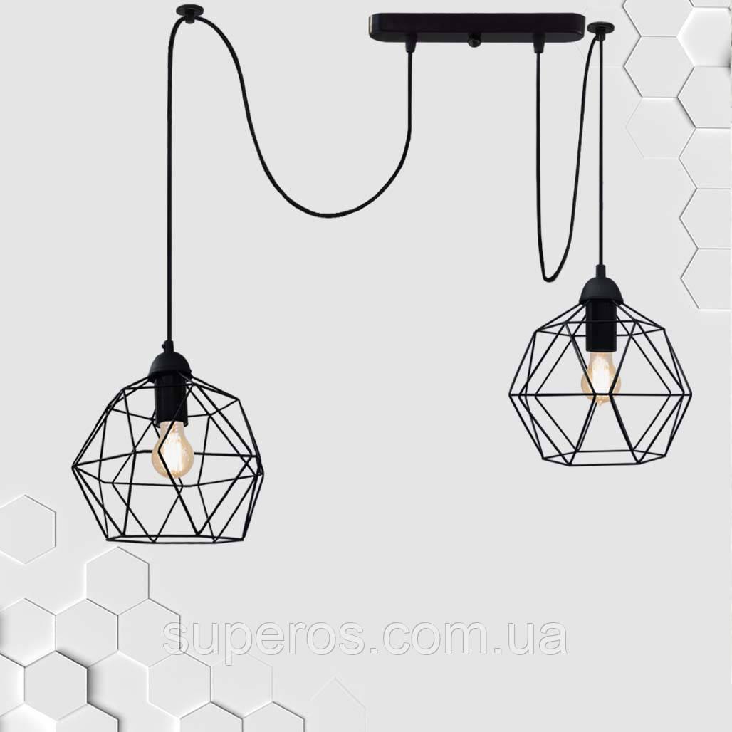 Подвесной светильник на 2-лампы ANTHILL/SP-2 E27 чёрный
