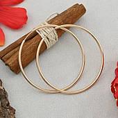 Серьги-кольца из медицинского золота 4 см. Ювелирная бижутерия Xuping
