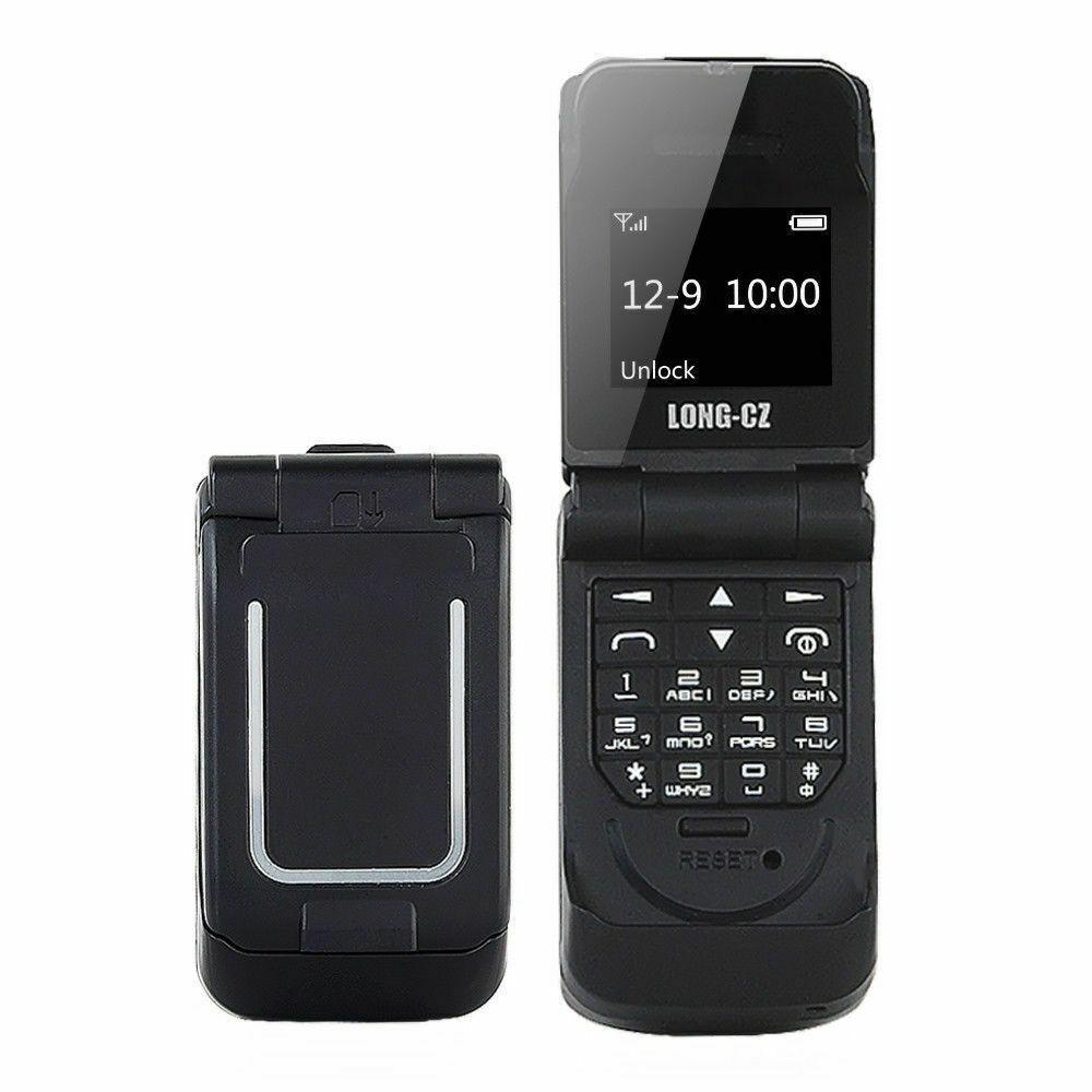 Маленький мобильный телефон раскладушка LONG-CZ J9 черный