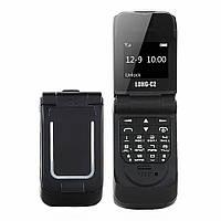 Маленький мобильный телефон раскладушка LONG-CZ J9 черный, фото 1