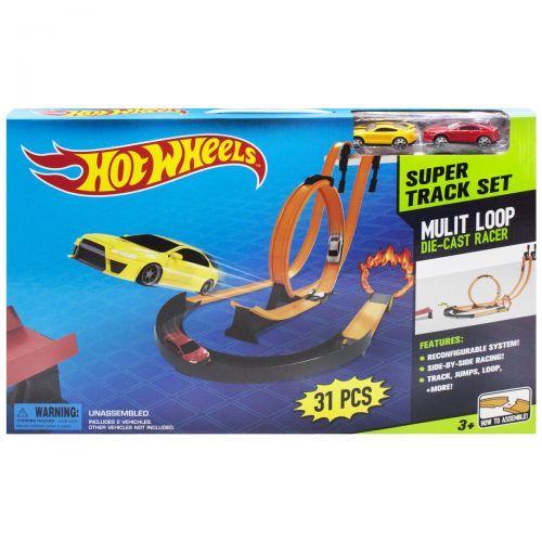 """Детский Автотрек с петлей, """"Hot Wheels: Super Track Set"""", 31 деталь 8825"""