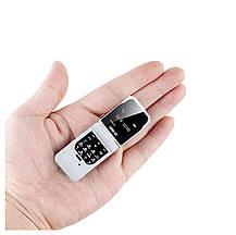 Маленький мобільний телефон розкладушка LONG-CZ J9 білий