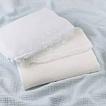 Клапоть жатого двошарового мусліну білого кольору, розмір 36*68 см, фото 9