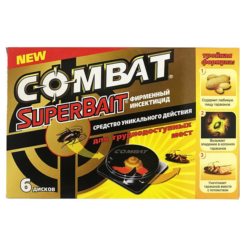 Ефективна пастка для тарганів Combat SuperBait (Комбат) (6 дисків)