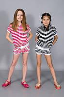 Костюм для девочки (шорты и кофта)