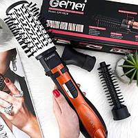 Фен щетка с насадками GEMEI GM-4828 расческа браш с вращением воздушный стайлер для волос