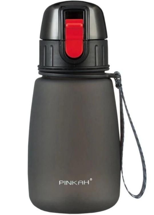 Многоразовая бутылка Pinkah TRITAN Sports PJ-748T, 460 мл, черная с красным