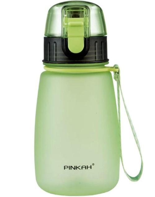 Фітнес-пляшка Pinkah TRITAN Sports PJ-748T, 460 мл, BPA Free, зелена з чорним