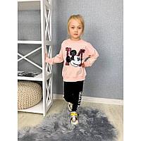 Милий спортивний костюм для дівчинки з принтом Міккі Мауса р. 104/110-116/122