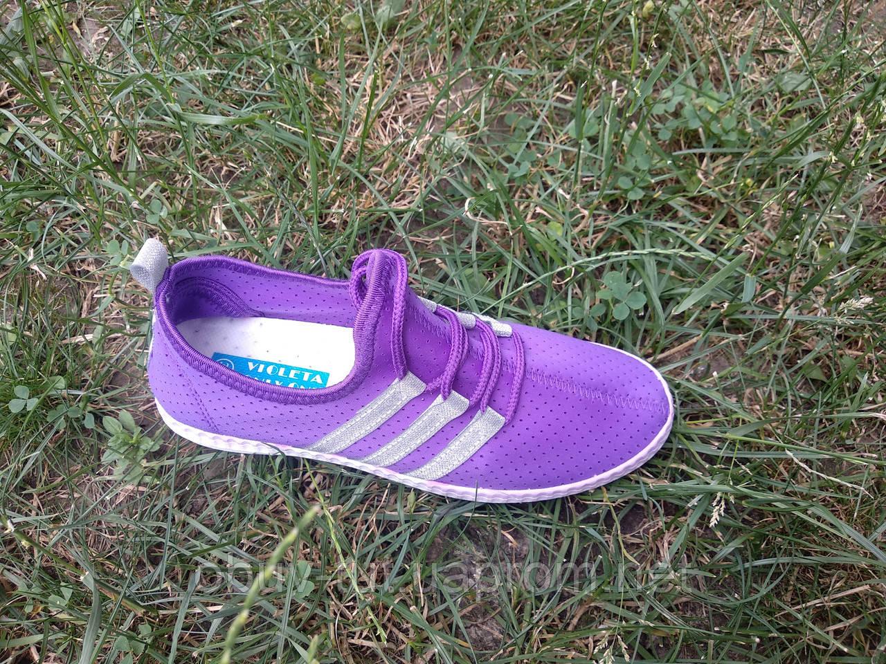 Кроссовки фиолетовые сетка, размеры: 36,37,38,39,40,41
