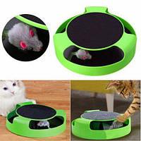 Интерактивная игрушка для взрослых кошек и котят Поймай Мышку Catch The Mouse, Стильная когтеточка для кота MB