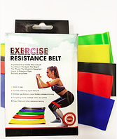 Латексные ленты сопротивления, набор фитнес резинок 5шт Еxercise resistance bands