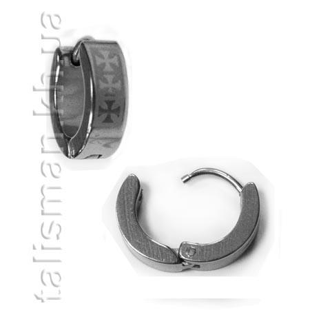 Серьга-кольцо - SK-03 - кресты