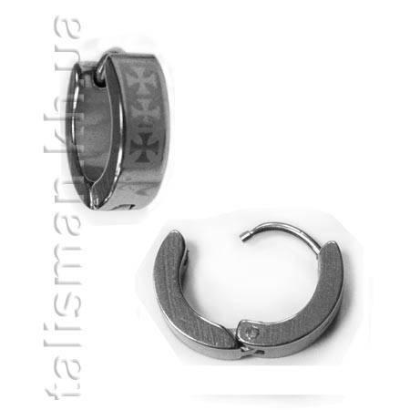 Серьга-кольцо - SK-03 - кресты, фото 2