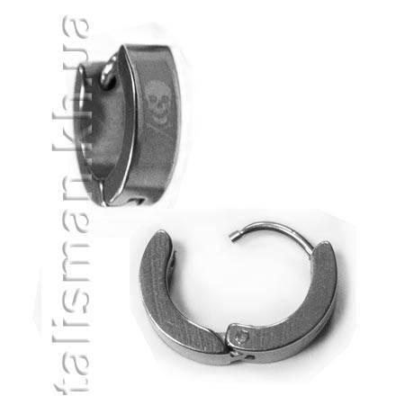 Серьга-кольцо - SK-04 - череп, фото 2