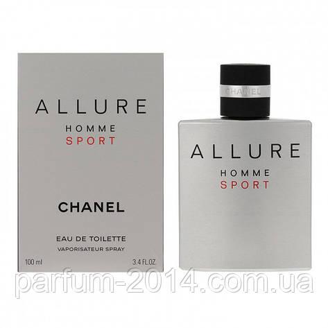 Мужская туалетная вода аллюр хом спорт Allure Homme Sport 100 ml (лиц) парфюм духи запах одеколон аромат, фото 2