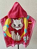 Пончо, детское полотенце с капюшоном, хлопок 100%, фото 9
