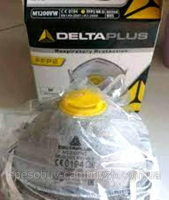 Респіратор Delta Plus M1200 VWC NIOSH N95 2-й клас FFP2 з клапаном видиху Упаковками від 10 штук