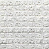 Самоклеюча 3D панель під білий цегла 700х770х7мм (1-7)