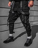Брюки карго мужские Огонь Пушка Combo черные
