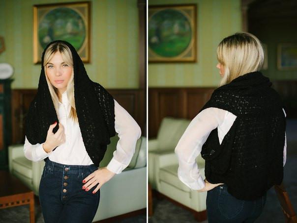 Желет-накидка цвет чёрный