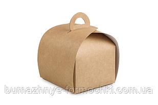 """Коробка для десертів """"Скринька"""" 110*110*80, крафт (50 штук)"""