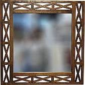 """Зеркало настенное ДРЕВОДЕЛЯ """"Версаль"""" 88х88х1,5см Орех (070603)"""