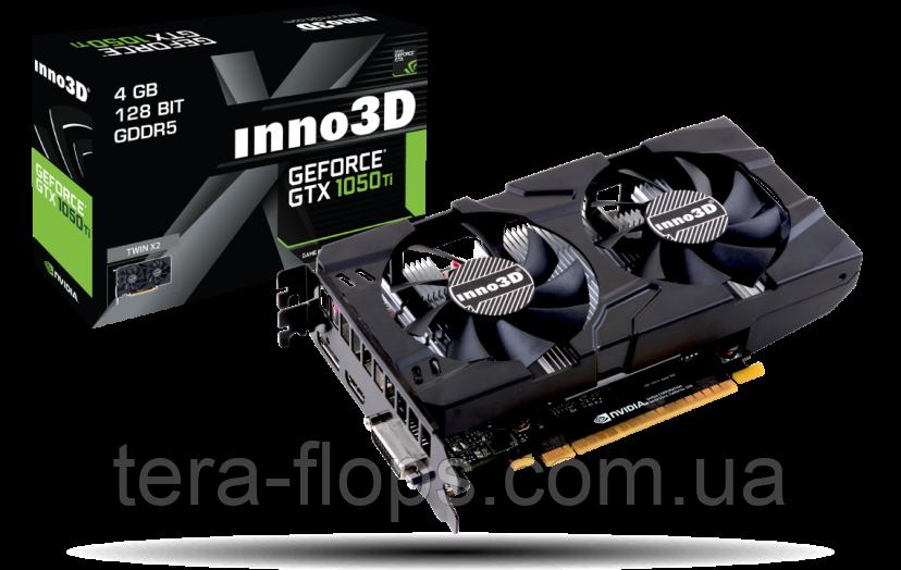 Видеокарта GTX 1050 Ti 4GB Inno3D Twin X2 (N105T-1DDV-M5CM) Б/У / (не работает HDMI)