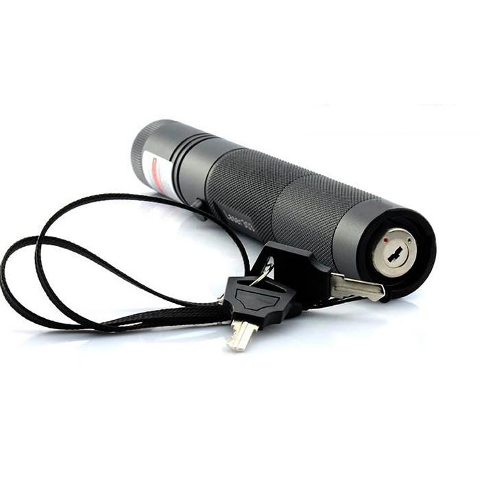 Розпродаж! Лазерна указка з захистом SD-303 Зелений промінь, потужний лазер на акумуляторі