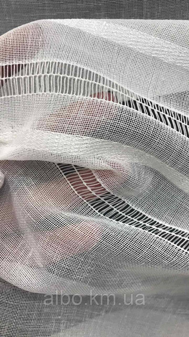 Льняний тюль на метраж білий, висота 2,8 м (B101)