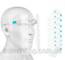 Упаковка защитных медицинских масок-щитков (20 шт./уп.) антивирусные маски (щиток захисний) (TI)