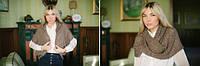 Желет-Накидка цвет темно-бежевый, фото 1