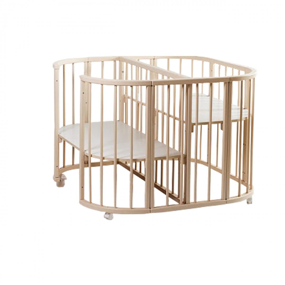 Ліжко Twins для двійні 110х110, слонова кістка, бежевий