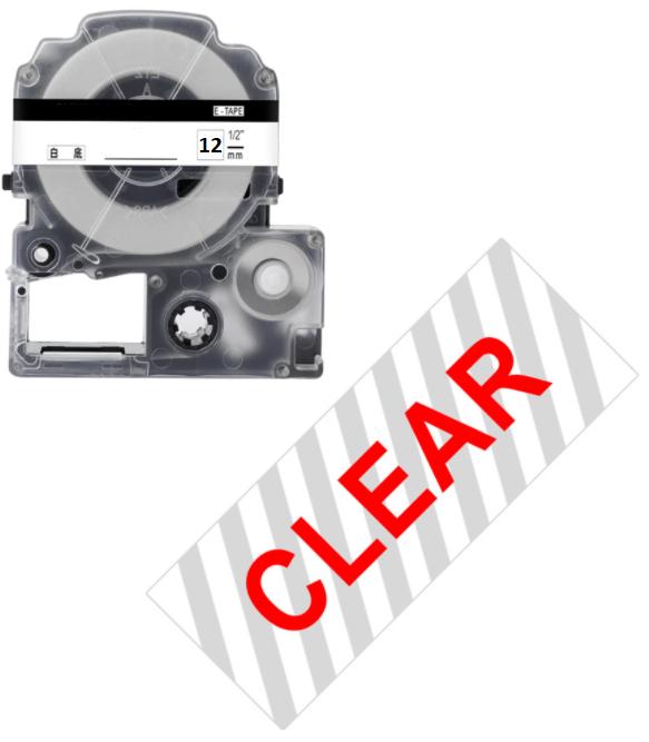 Стрічка для принтера етикеток Epson LabelWorks LK4TRN Std Red/Wht 12/8