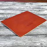 Килимок для мишки шкіряний , шкіра ремінна , 4мм коньяк Babich, фото 5