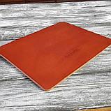 Килимок для мишки шкіряний , шкіра ремінна , 4мм коньяк Babich, фото 7