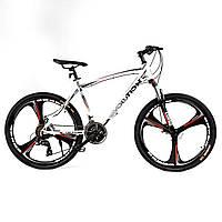 Спортивный велосипед 26 дюймов (литые диски, 21 скорость, сборка 75%) Corso Evolution43738 Белый