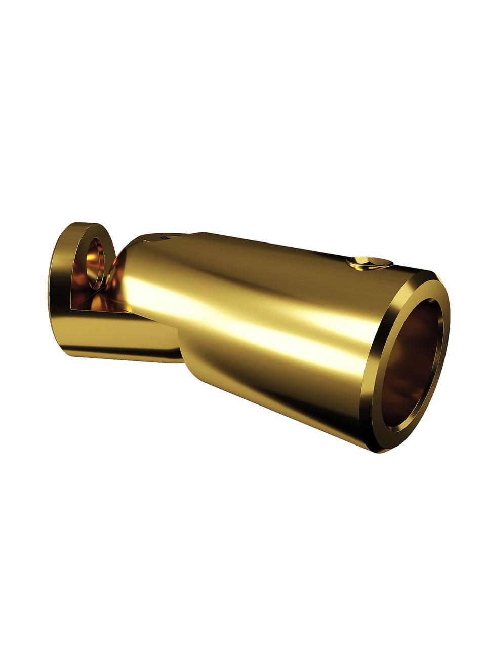ODF-09-18-10 Крепление штанги для душа 16 мм к стене поворотное, регулируемое, цвет золото