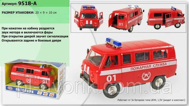 """Машина батар. 9518A (24шт/2)""""PLAY SMART"""" """"Пожежна служба"""" об'явл.двері,світло,звук,кор"""