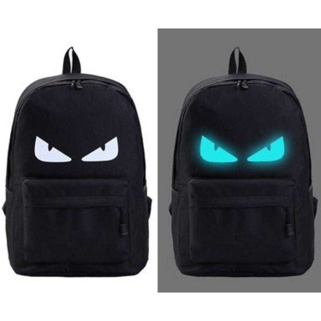 УЦЕНКА! Рюкзак унисекс с подсветкой, черный рюкзак 2021, рюкзак с глазами  УСС6476-10-1