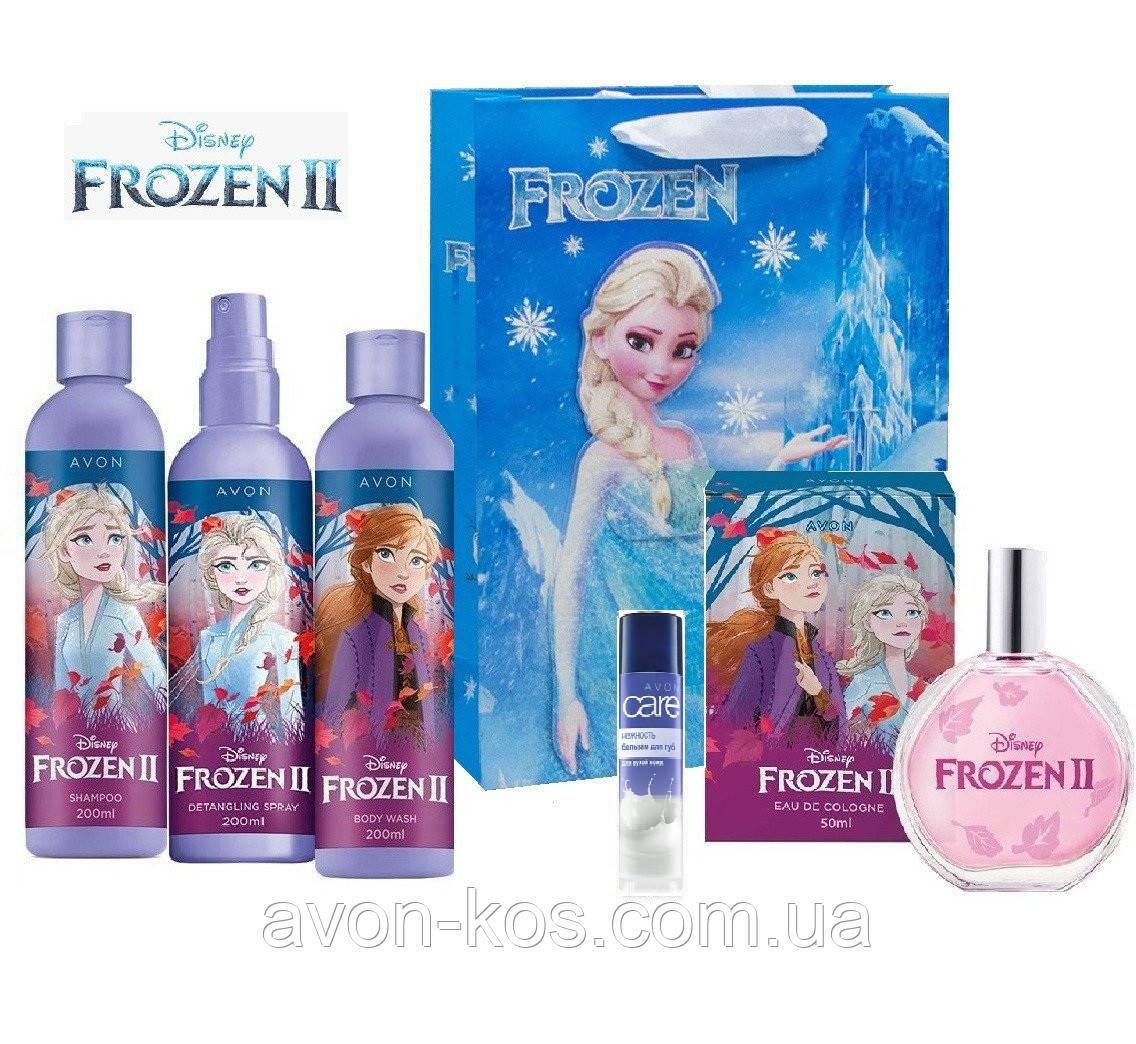 Набір для дівчаток AVON 6 в 1 - Disney Frozen II - Холодне Серце 2 в подарунковому пакеті Frozen