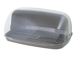 Пластиковая хлебница с откидной крышкой 36*27*18 см в ассортименте