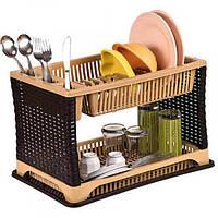 Сушка для посуду Violet House 0053 Роттанг MIX (29*44*29 см)