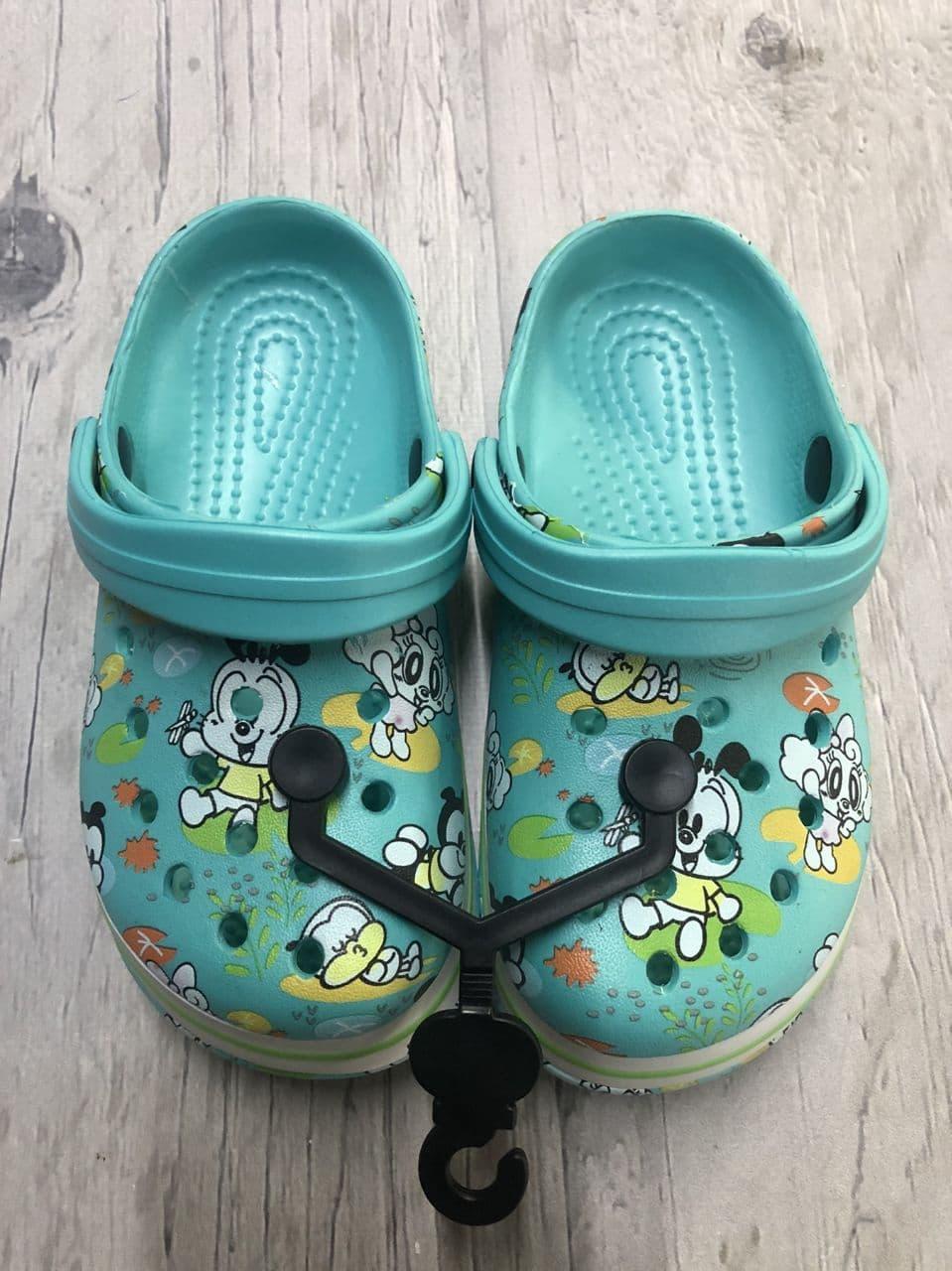 Сабо, Пляжная обувь Кроксы бирюзовые Luckline размер 26/27